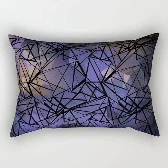 Polygon mesh . Blue . Rectangular Pillow