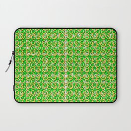 Four leaf clovers and gold horseshoes that are lucky for some Laptop Sleeve