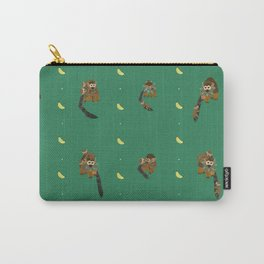 Classic Bananas with Monkeys and Babies Pattern Carry-All Pouch