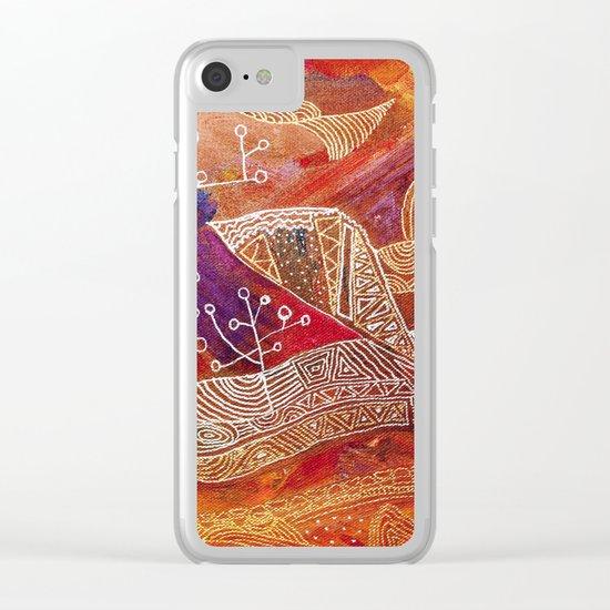 golden maze Clear iPhone Case