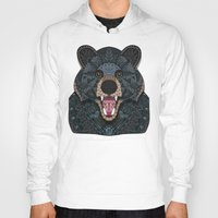 ornate Hoodies featuring Ornate Black Bear by ArtLovePassion
