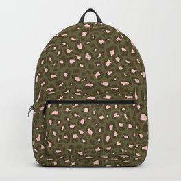 Leopard Print 2.0 - Olive Green Backpack