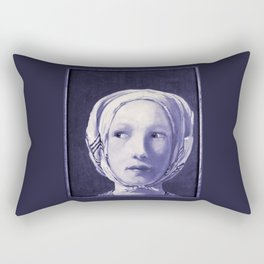The Thief in Indigo Rectangular Pillow