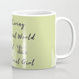 WE are living in a material world and I'm a material girl funny pun Sew sewing Coffee Mug