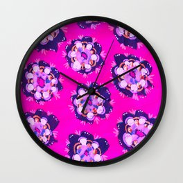 Pink Nevada Rose Wall Clock
