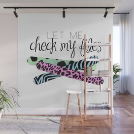 Let Me Check My Files Wall Mural