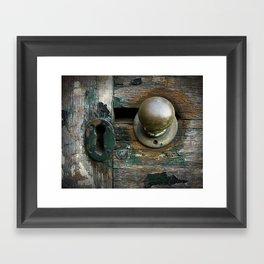 aging door. Framed Art Print