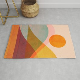 Abstraction_SUNSET_LANDSCAPE_POP_ART_Minimalism_018X Rug