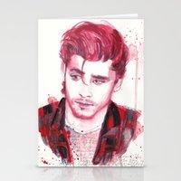 zayn malik Stationery Cards featuring Zayn Malik by WaterLyrics