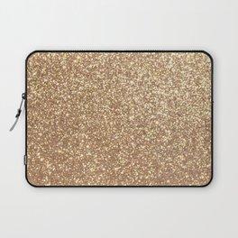 Copper Rose Gold Metallic Glitter Laptop Sleeve