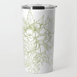 Leaf Mix Green Travel Mug
