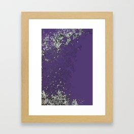 Purple Mold Framed Art Print