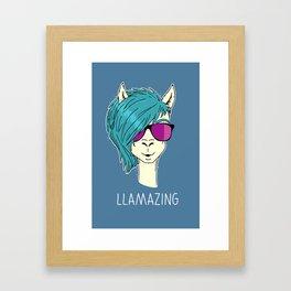 LLAMAZING llama Framed Art Print