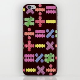 Seamless Colorful Abstract Mathematical Symbols Pattern II iPhone Skin