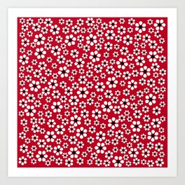 Dizzy Daisies - Red 2 - more colors Art Print