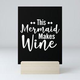 Winemaker Mermaid Wine Mini Art Print