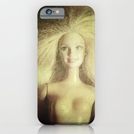 The old doll now is the new doll of a little girl iPhone Case