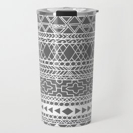 Grey Tribal Print Travel Mug