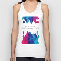 coldplay Tank Tops featuring So We Soar Luminous & Wired by Arnaldo Quintini