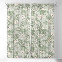 Vintage Jungle Pattern #society6 #decor #buyart Sheer Curtain