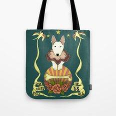love makes fools of us- bull terrier portrait Tote Bag