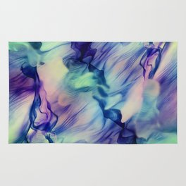 Flow in Blue and Purple Rug