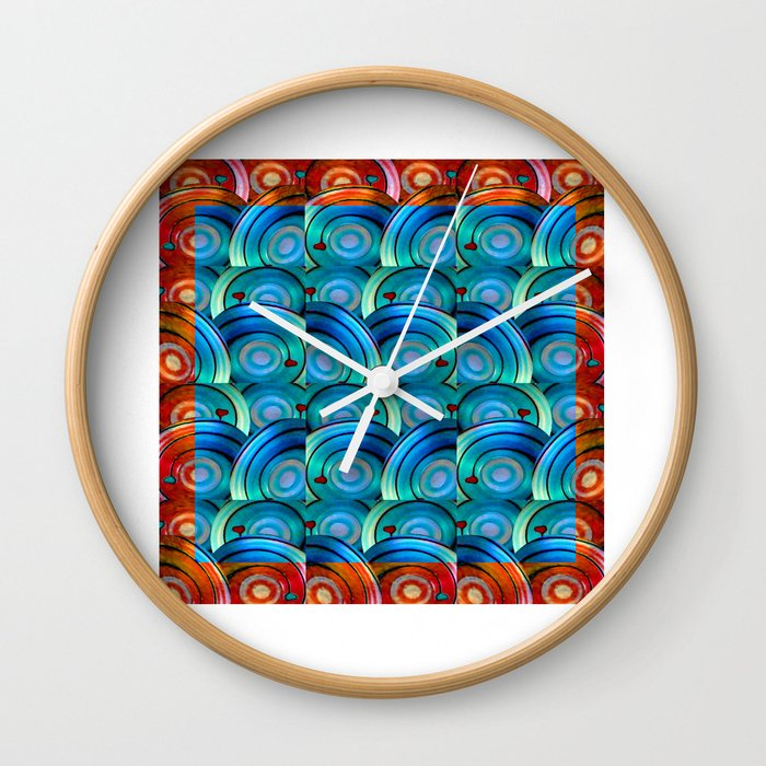 Circle design with Heart Wall Clock
