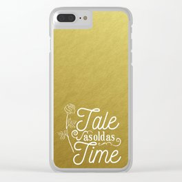 Tale As Old As Time - Beauty and the Beast (gold) Clear iPhone Case