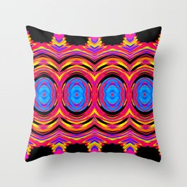 Psychedelic Swirls Throw Pillow