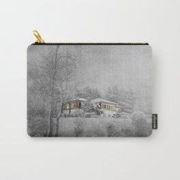 the villa in snowlandscape Carry-All Pouch