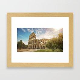 Discovering Coliseum Framed Art Print