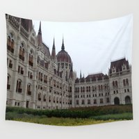 budapest Wall Tapestries featuring Budapest  by Katarina