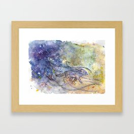 Fennec fox. Resistance. Framed Art Print