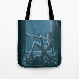 Tracy Queen: Royal Blues Tote Bag