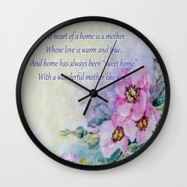 Mothers Day - Sweet Home Wall Clock
