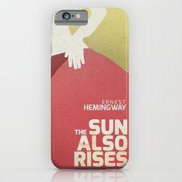 The sun also rises, Fiesta, Ernest Hemingway, classic book cover iPhone Case