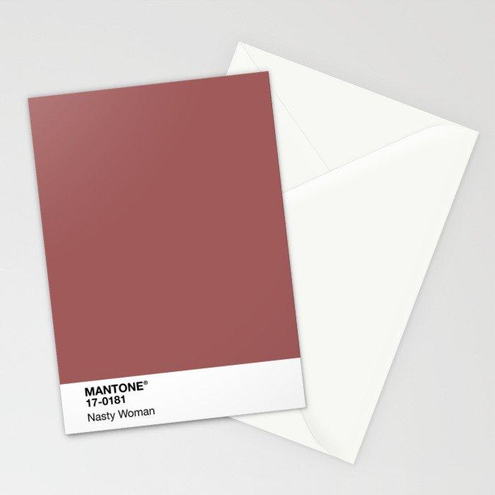 MANTONE® Nasty Woman Stationery Cards
