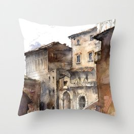 Cortona, Italy Throw Pillow