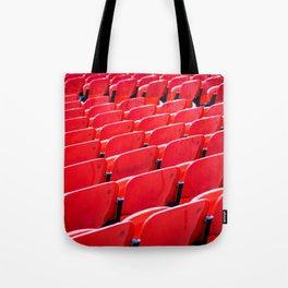 Red Stadium Seats Tote Bag