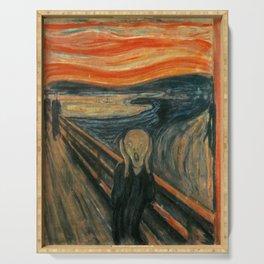 Classic Art - The Scream - Edvard Munch Serving Tray