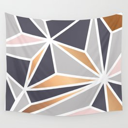 Geometry Gold 047 Wall Tapestry