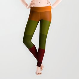 Cool Autumn Leaves - Color Therapy Leggings