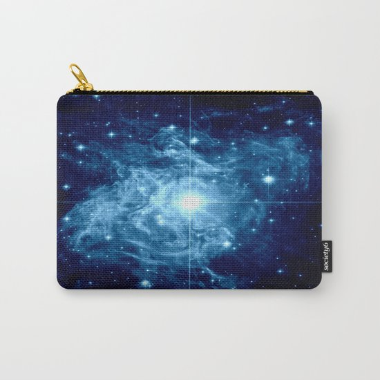 Turquoise Galaxy Star Carry-All Pouch