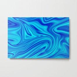 Blue Liquid Metal Print