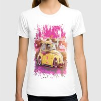volkswagon T-shirts featuring yellowinpink beetle bug by Vector Art