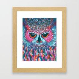 color pop owl Framed Art Print