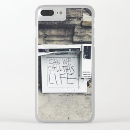 can we call this life Clear iPhone Case
