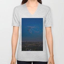 Moon Over LA Unisex V-Neck