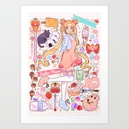 Sailor Moon sweets Art Print