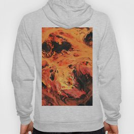 Fire Orange Acrylic Original Art Hoody